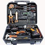 Lithium-Batterie-Bohrer-Kit,Wiederaufladbare elektrische Bohrmaschine für den Haushalt, Ideal für alle Arten von Arbeit zu Hause