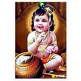 100yellow® Baby Krishna Print Poster (Paper ; 12x18-Inch)