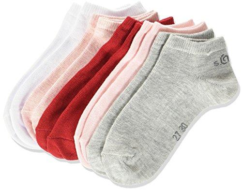 s.Oliver Socks Mädchen Füßlinge Junior Fashion Sneaker 5p, 5er Pack, Rosa (Pale Pink Combo 52), 27/30