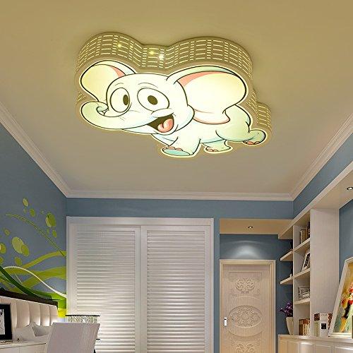 WoOnew Legierung aus Eisen Elefant Deckenlampe Kinderzimmer Schlafzimmer personalisierte Kreative Junge und Mädchen Cartoon Kinder Beleuchtung, Versprechen Dimmen, 56 X 52 X 9 Cm -