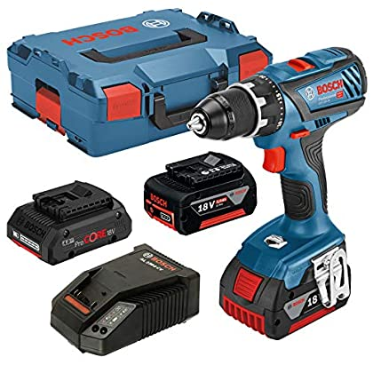 Bosch Professional PS GSR 18V-28 + ProCORE18V 4Ah Akku-Bohrschrauber 18V 5Ah Li-Ion Incl. 3. batería Recargable, i