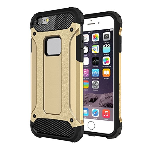 GHC Cases & Covers, Tough Armor TPU + PC Kombi-Gehäuse für iPhone 6 & 6s ( Color : Red ) Gold
