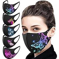 AmyGline 5 Stück Eisseide Mundschutz mit motiv Waschbar Wiederverwendbar Atmungsaktiv Gesichtsschutz Halstuch für Outdoor Sport Radfahren Laufen,Erwachsene&Kinder