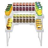 KinshopS Universal-Gewürzregal mit 2 Ebenen, verstellbar, ausziehbar, würziges Regal für Küche, Garage, Werkzeugschuppen etc.