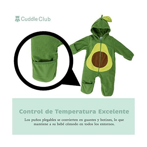 Cuddle Club Mono Polar Bebé para Recién Nacidos a Niños 4 Años – Pijamas Infantiles Chaqueta de Invierno Abrigo Polar Niño Mono de Niños