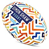 Simon Shaw Rugby-Ball, Größe 3, Neonfarben