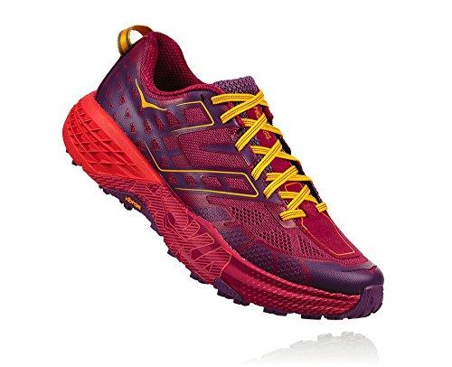 Hoka One One Speedgoat 2 Woman Shoes Running, Red (Cherriesjubilee/purplepas) 37 1/3 EU