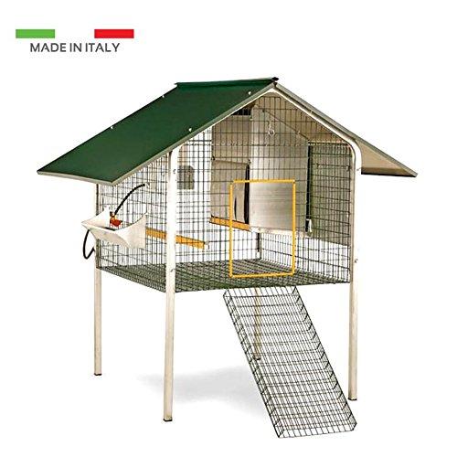 Preisvergleich Produktbild Hühnerstall Gartentisch Garda für Legehennen Käfig Hühner Zucht Geflügel