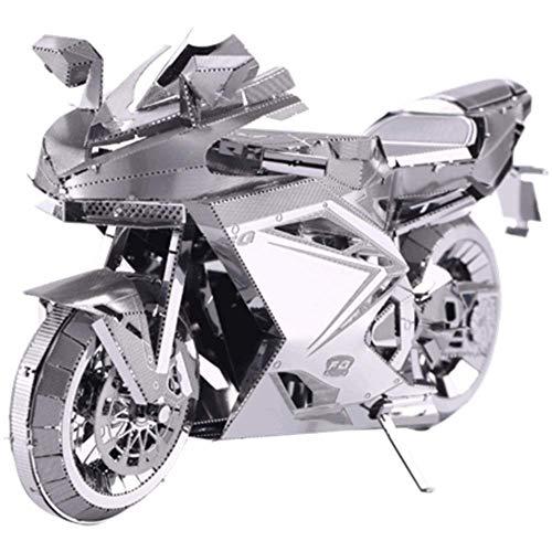 Motorrad 3D dreidimensionales Puzzle schwere Lokomotive Metall montiert Modell Spielzeug DIY handgefertigte kreative Geschenk Schwarz + Werkzeug A + B One Size