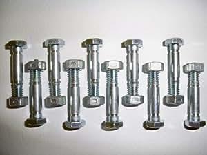 Lot de 10 Epingles, coupe-boulons et écrous, remplace Ariens 532005, 53200500 05907100