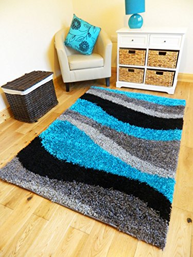 **4 SIZES AVAILABLE**EXTRA LARGE SMALL MEDIUM TEAL BLACK SILVER GREY NEW MODERN SOFT THICK SHAGGY NON SHED PILE BEDROOM RUG HALL CARPET LIVING ROOM MAT CHEAP (200 X 270 CMS)
