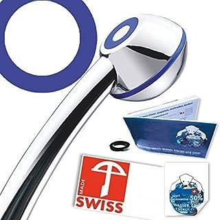 Duschkopf Blue Power WOW! Mehr Druck beim Duschen mit Durchlauferhitzer oder im 4. Stock. Verkalkungsfrei, wassersparend, (ohne Softspray-Aufsatz+Zusatzregler wie bei anderen Modellen dieser Brause)