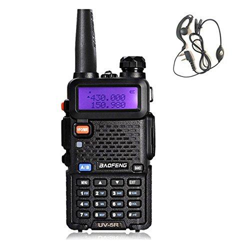 Baofeng - Walkie-talkie negro UV-5R con radio FM, VHF/UHF, con doble banda