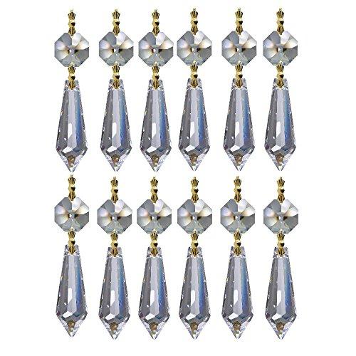 12 x 6 cm catene pendenti di cristallo ~ pendenti ottagoni e Vienna 30% PbO ~ pendenti per lampadario