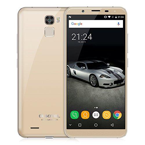 "OUKITEL K5000 Smartphone 4G Android 7.0 (MTK6750T Octa Core 1.5 GHz, 5.7"" 18:9 HD+ Schermo, 4 GB RAM 64 GB ROM, 21MP+16MP Camera, Fingerprint ID, Dual SIM, 5000mAh Batteria, OTA, Carica rapida) Oro"