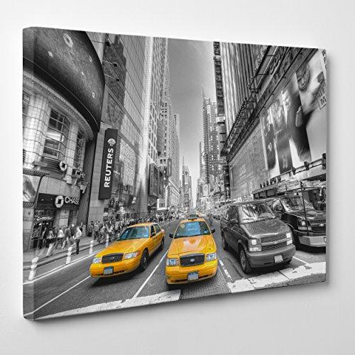quadro-su-tela-canvas-intelaiato-pronto-da-appendere-taxi-giallo-ny-new-york-bianco-e-nero-fotografi