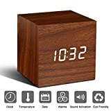 Holz Wecker Digital LED Licht minimalistischen Mini Cube - Best Reviews Guide