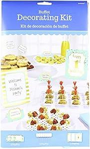 Amscan International 410048 - Kit de decoración para Bebidas y vajillas, Color Azul