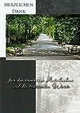Trauer Danksagungskarten Trauerkarten ohne Innentext Motiv Weg Bank 25 Klappkarten DIN A6 mit weißen Umschlägen im Set Dankeskarten Dankeschön Karten Kuvert Danke sagen Beileid K129