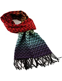A.WAVE A. WAVE Softer than Cashmere Wool Touch Tassel Ends Plaid Check Solid Scarf