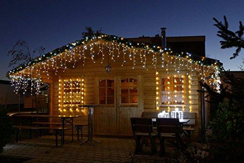 Eisregen Lichterkette 12m 480 LED-Mix warmweiß/kaltweiß von Gartenpirat®