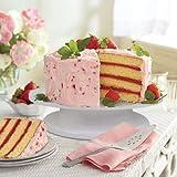 InnoGear drehbar Tortenplatte weiß Tortenständer Drehteller Cake Decorating Turntable mit 2 Stück Tortenmesser Set, 3 Stück Teigspachtel, für Backen Gebäck, Zuckerguss, Kuchen, 28 x 28 x 7 cm - 6