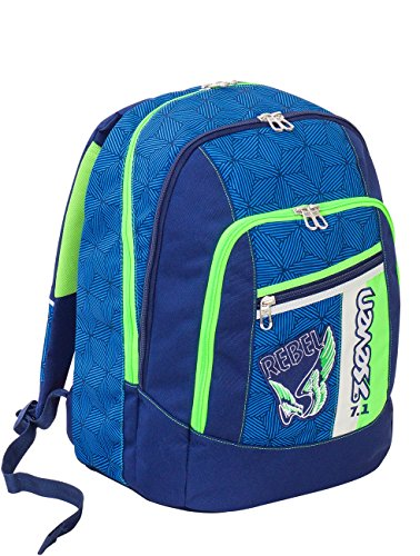 Zaino scuola advanced SEVEN - REBEL BOY - Blu -...