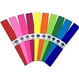 Carta Crespa Colorata,51 x 75cm,Festa di compleanno di nozze Decorazioni,10 Colori,33 fogli