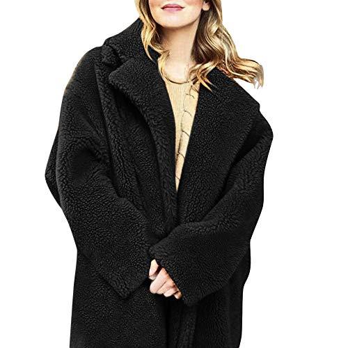 Btruely Oberbekleidung Damen Winter Mantel Groß Größ Sweatjacket Frauen Winterjacken Lange Parka Kunstpelz Plüschmantel Vintage Outwear