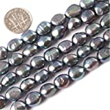 Sweet & Happy Girl'S Store Freeform Dark Freshwater Pearl Dyed Beads Strand 15 Inch Jewellery Making Dyed Beads