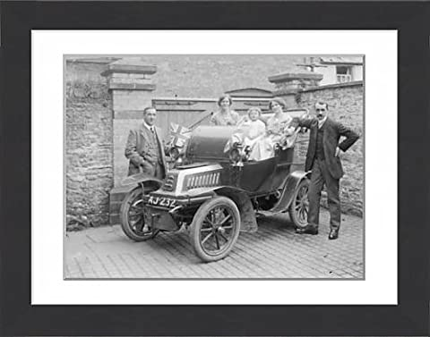 Framed Print of De Dion Bouton motor car, Crickhowell, Powys, Mid Wales