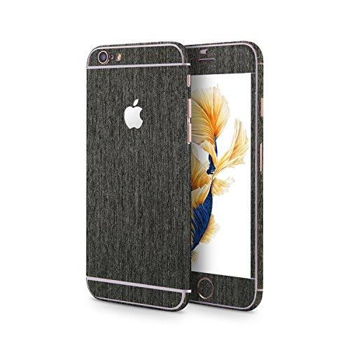 OKCS®Premium Glamoures Sticker für das Apple iPhone 6 Plus / 6s Plus Skin Glitzerfolie Protector Folie Schutzfolie Slim Sticker in Carbon 2.0 Optik in Cosmos Black