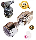 #4: Rainbow Dots 10-Stage Premium Shower Filter & tap Filter for Hard Water for Bathroom.INFUSES Essential Minerals Vitamin,Remove,Chlorine,Bacteria, Pesticide, Rust .Take Care and Protect Hair,Skin.