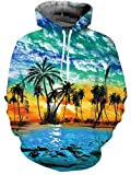 AIDEAONE Frauen Männer Hawaiian Hoodies 3D Gedruckte Fleece Pullover Tops Neuheit Kapuzen-Sweatshirts