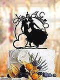 Décoration de gâteau élégante Lesbienne avec noms. Décoration de gâteau de mariage Lesbienne. Décoration de gâteau Mme et Mme Décoration de gâteau pour mariée et mariée. L007