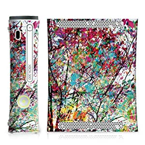 DeinDesign Skin kompatibel mit Microsoft Xbox 360 Aufkleber Folie Sticker Leaves Blaetter Colourful