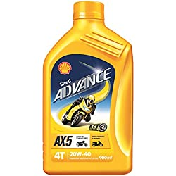Shell Advance AX5 550031425 20W-40 API SL Premium Mineral Motorbike Engine Oil (900 ml)