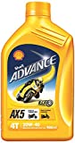 #7: Shell Advance AX5 550031425 20W-40 Premium Mineral Motorbike Engine Oil (900 ml)