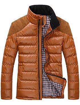 MHGAO Nuevo para la camisa de otoño / invierno de los hombres de Down Jacket , red , l