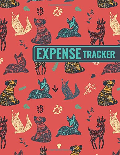 Expense Tracker: Personal Cash Management Daily Record Organizer Notebook with Forest Animals Themed Cover Design