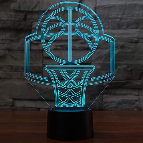 Wuqingren 3D Visuelle LED Basketball Modellierung Dekor Sport Fans Touch-Taste USB Tischlampe Baby Schlaf Beleuchtung Beleuchtung Geschenke,Berührungsschalter