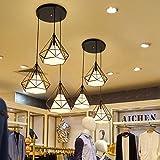 Modernes Pendelleuchte, E27 LED Kronleuchter 3 Lichter, Schwarze Lampe Schirm Loft Hängelampe