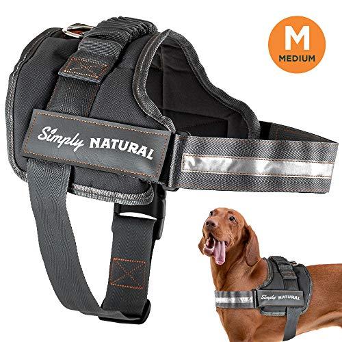 Hundegeschirr von Simply Natural Mittleres Ausbruchsicheres Hundegeschirr Mit Leicht Verschließbaren Klettverschlüssen - Starkes Superweiches Hundegeschirr