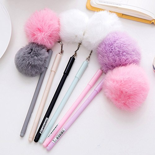 (Gemini Mall® 4x (Flamingo-Set, Stifte für Büro, Schule, Studenten, Tintenroller, 0,5mm Spitze Pom Pom Gel Ink Pens - 6 Pens)