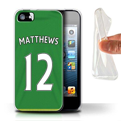 Offiziell Sunderland AFC Hülle / Gel TPU Case für Apple iPhone 5/5S / Pack 24pcs Muster / SAFC Trikot Away 15/16 Kollektion Matthews