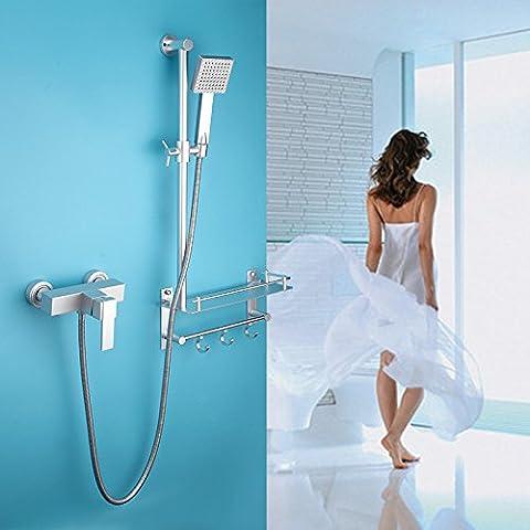 sbwylt-hand-held ducha spray ducha espacio de aluminio ducha de mano Set, 63019-2