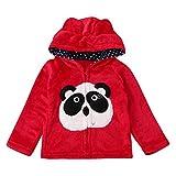 vêtements à capuche Solike Bébé Enfant Enfants Garçons Filles Cartoon animal manteau à capuchon Cape Hauts vêtements chauds (1-5 ans) (120/4 ans, Rouge)