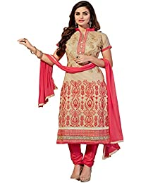 52d65df25d Shree Vardhman Women's Crepe Unstitched Straight Salwar Suit dress material  (EMAIRA009_Chiku)