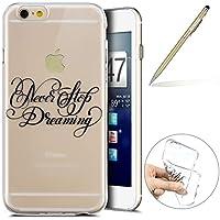 Herbests Handy Tasche für iPhone 6S Plus 5.5 Silikon Hülle Durchsichtige Schutzhülle Crystal Clear Transparent Ultra Dünn Handyhülle Silikonhülle Kristall Klar TPU Bumper,Traum