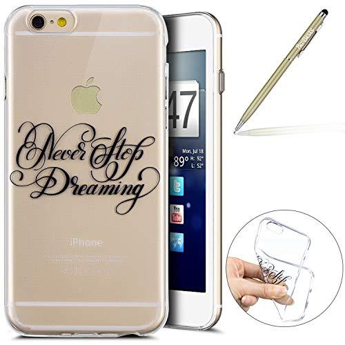 Herbests Kompatibel mit Handy Tasche iPhone 6S 4.7 Silikon Hülle Durchsichtige Schutzhülle Crystal Clear Transparent Ultra Dünn Handyhülle Silikonhülle Kristall Klar TPU Bumper,Traum
